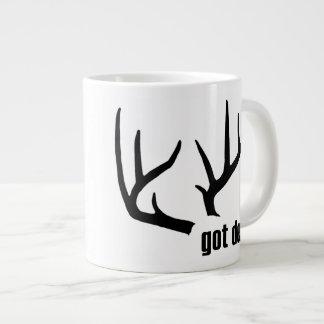 Got Deer Black Antlers Personalized Jumbo Mug