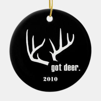 Got deer? Customizable Hunter Success Ornaments