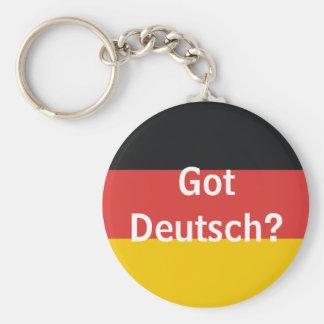 Got Deutsch? Basic Round Button Keychain