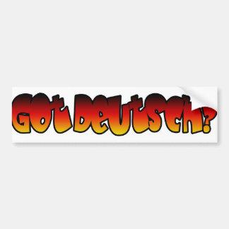 Got Deutsch? Car Bumper Sticker