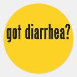 got diarrhea? round stickers