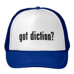 got diction? trucker hat