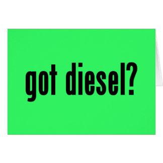 got diesel? greeting card