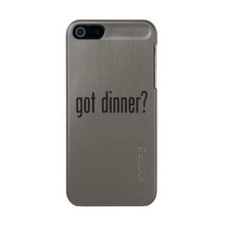 got dinner metallic phone case for iPhone SE/5/5s