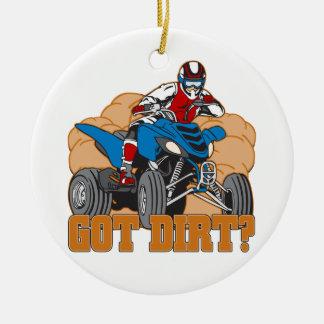 Got Dirt ATV Ceramic Ornament