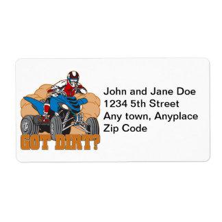 Got Dirt ATV Shipping Label