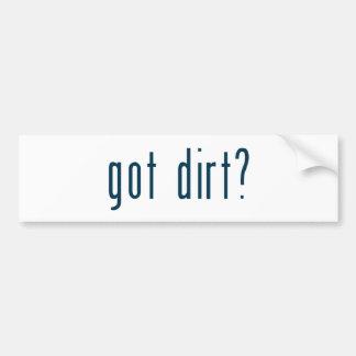 got dirt bumper sticker