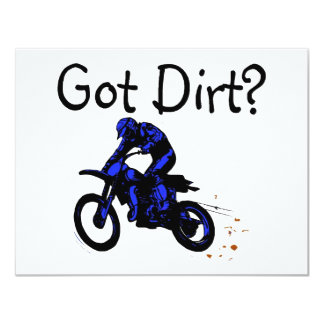 Got Dirt Motorcycle 4.25x5.5 Paper Invitation Card