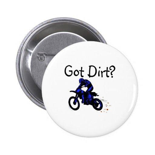 Got Dirt Motorcycle Pinback Button