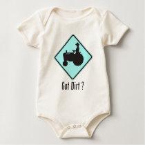 Got Dirt Tractor Baby Blue Baby Bodysuit