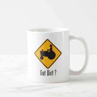 Got Dirt Tractor Gold Coffee Mug