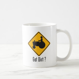Got Dirt Tractor Gold Coffee Mug