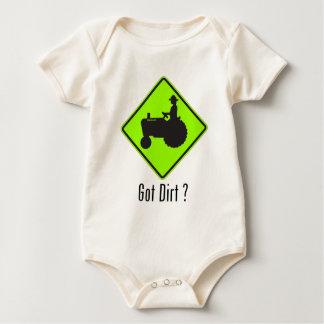Got Dirt Tractor Green Baby Bodysuit
