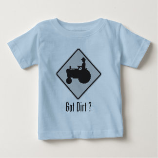 Got Dirt Tractor Grey Baby T-Shirt