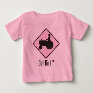Got Dirt Tractor Lt. Pink Baby T-Shirt