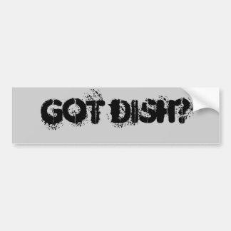 GOT DISH? BUMPER STICKER