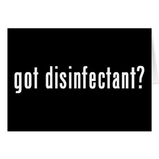 got disinfectant? card