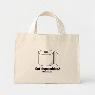 Got Disposables? Light Tote Canvas Bag