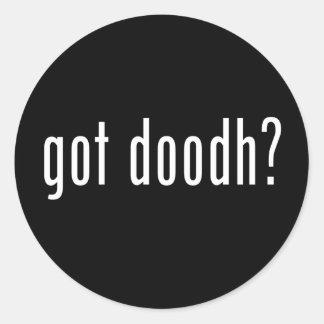 got doodh? classic round sticker