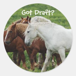 Got Draft? Classic Round Sticker