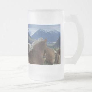 Got Draft? Frosted Glass Beer Mug