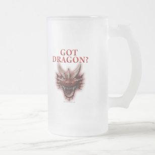 Got Dragon? Frosted Glass Beer Mug
