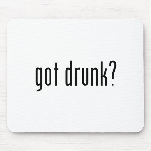 got drunk? mouse pad