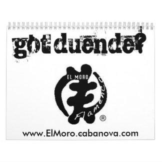 got duende? Calendar