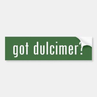 got dulcimer bumper sticker