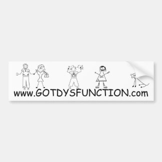 Got Dysfunction website bumper sticker Car Bumper Sticker