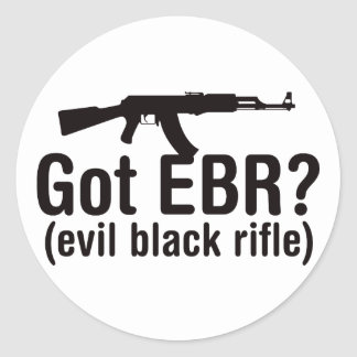 Got EBR? Basic AK47 Classic Round Sticker