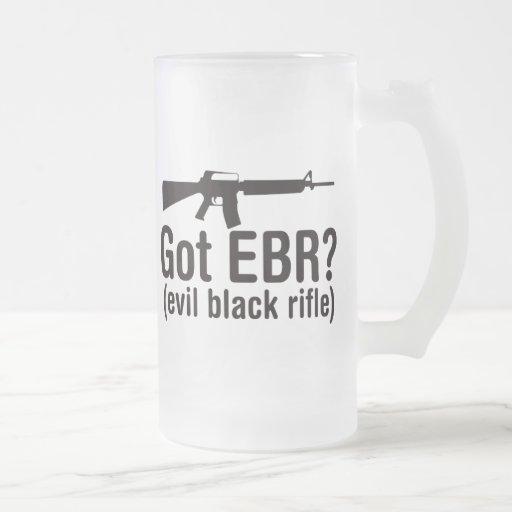Got EBR? Basic AR15 Frosted Glass Beer Mug