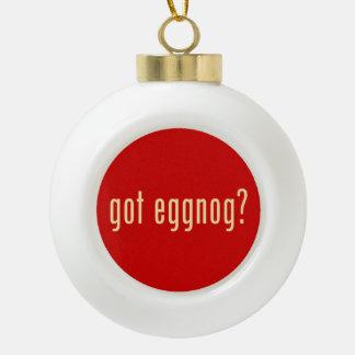 got eggnog? ceramic ball christmas ornament
