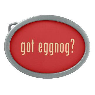 got eggnog? oval belt buckles
