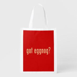 got eggnog? reusable grocery bag