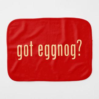 got eggnog? baby burp cloths