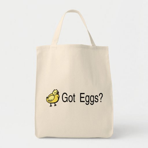Got Eggs Chick Easter Canvas Bags