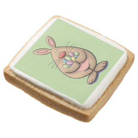 got eggs ? cute & funny easter bunny cartoon square shortbread cookie