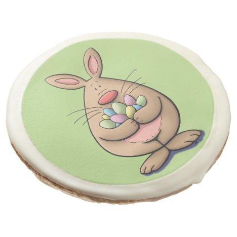 got eggs ? cute & funny easter bunny cartoon sugar cookie