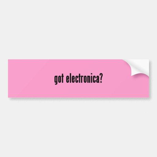 got electronica? car bumper sticker