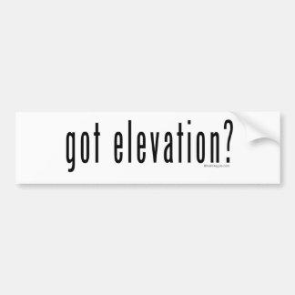 Got Elevation? Bumper Sticker