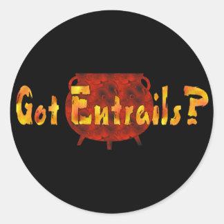 Got Entrails? Classic Round Sticker