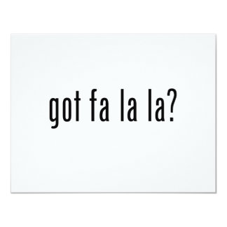 got fa la la? custom invites