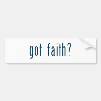 got faith bumper sticker
