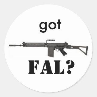 got FAL? Classic Round Sticker