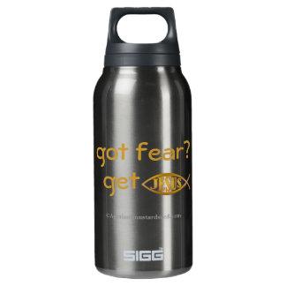 got fear? get Jesus! Insulated Water Bottle