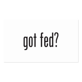 got fed Double-Sided standard business cards (Pack of 100)