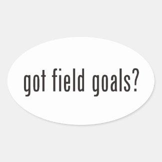 got field goals? oval sticker