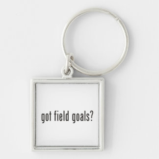 got field goals? Silver-Colored square keychain