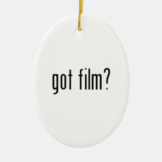 got film? ceramic ornament